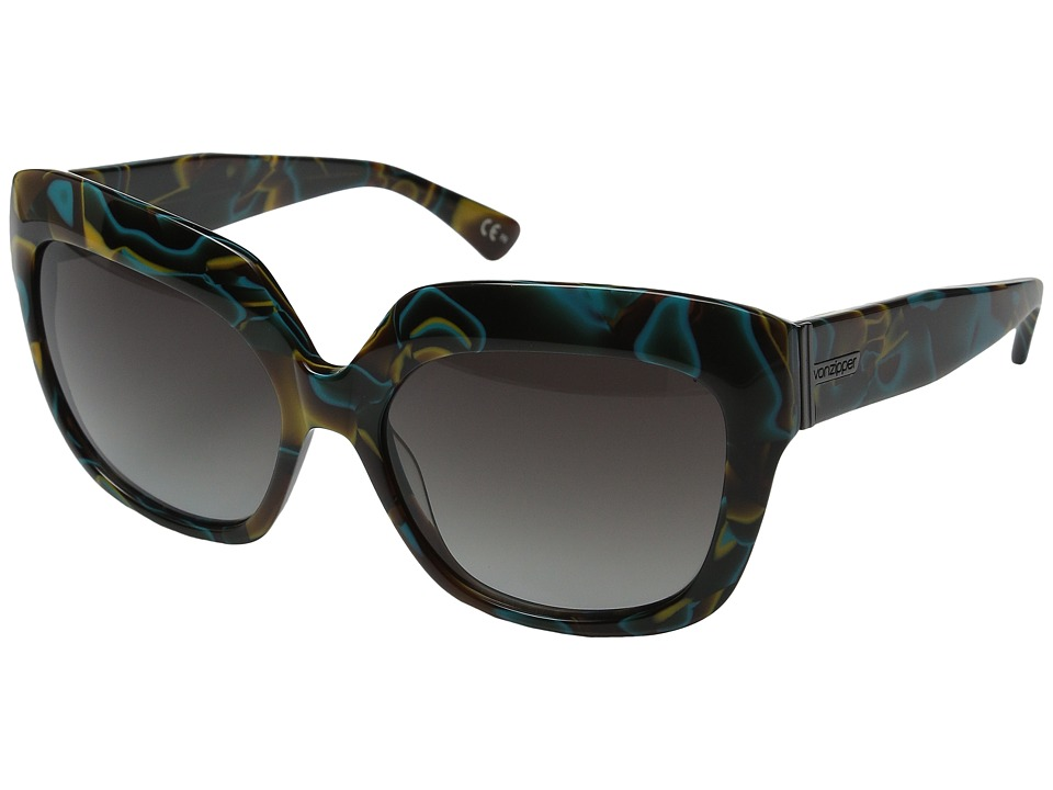VonZipper - Poly (Color Swirl/Brown Blue Gradient) Sport Sunglasses