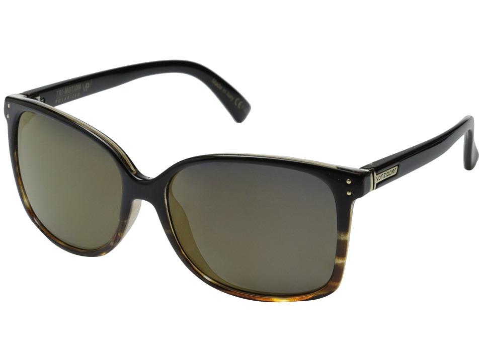VonZipper - Castaway Polar (Black Tortoise Fade Gloss/Gold Glo Polar) Sport Sunglasses