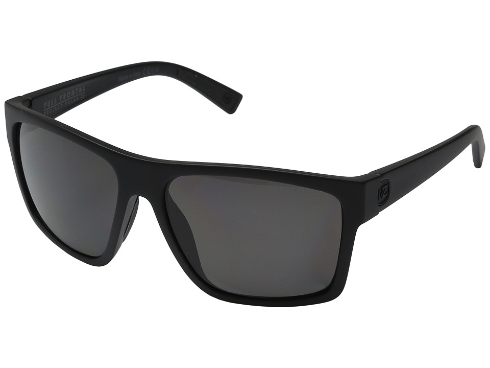 VonZipper - Dipstick Polar (Black Satin/Full Frontal Grey Polar) Sport Sunglasses