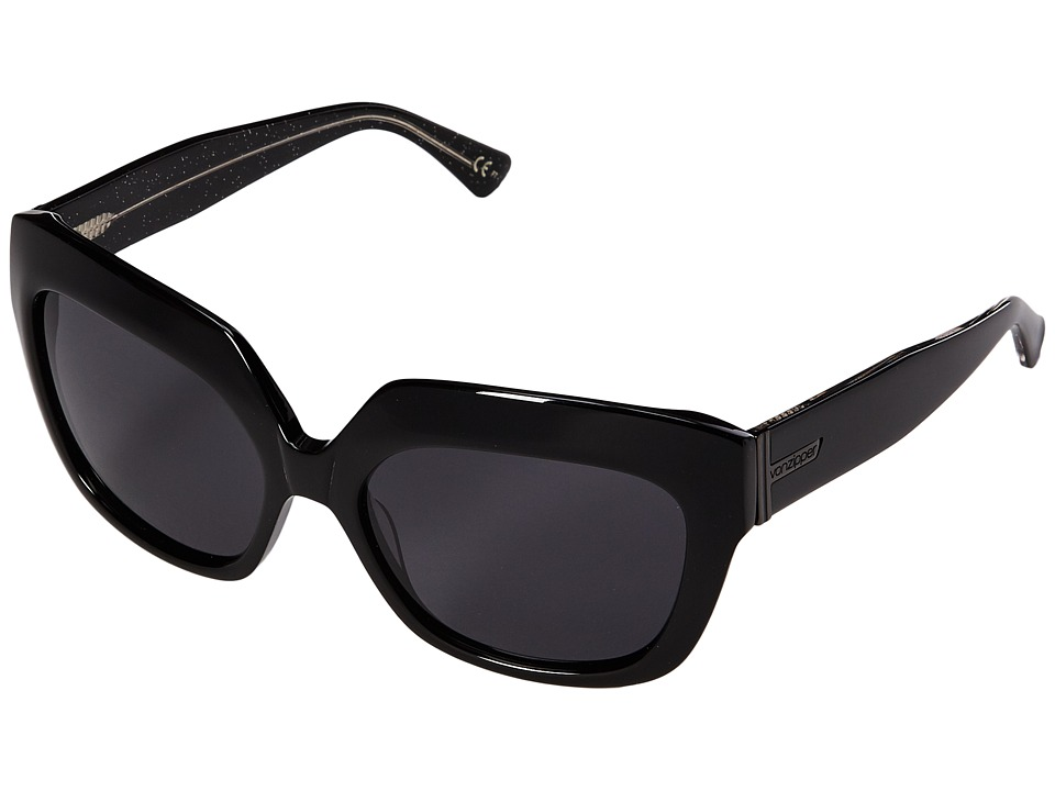 VonZipper - Poly (Black Glitter/Grey) Sport Sunglasses