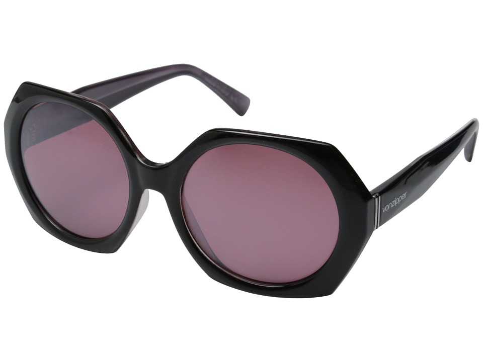 VonZipper - Buelah (Hot Box Black Lavender Satin/Lavender Matte) Sport Sunglasses