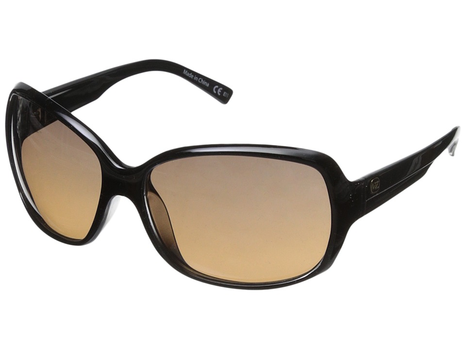 VonZipper - Ling Ling (Black Crystal/Grey Brown Gradient) Sport Sunglasses