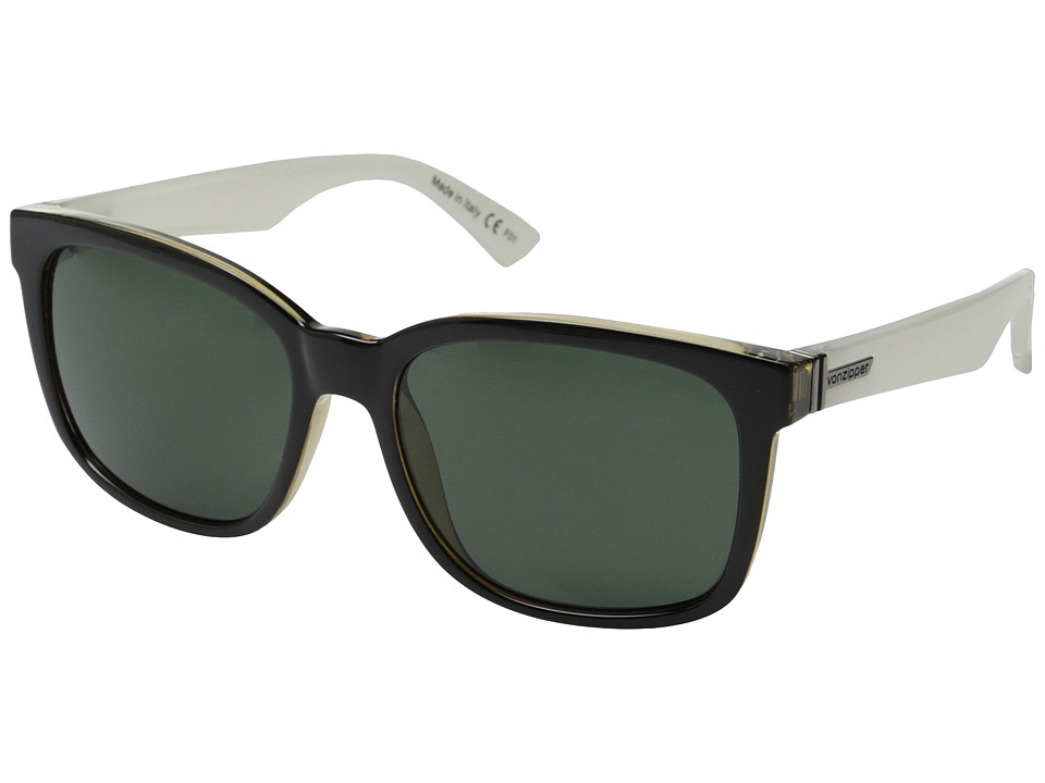 VonZipper - Howl (Black-Buff White/Grey) Fashion Sunglasses