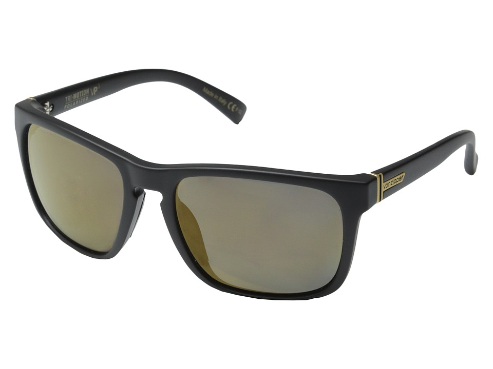VonZipper - Lomax Polar (Black Satin/Gold Glo Polar) Fashion Sunglasses
