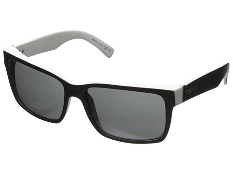 VonZipper - Elmore (Black White Satin/Grey) Sport Sunglasses