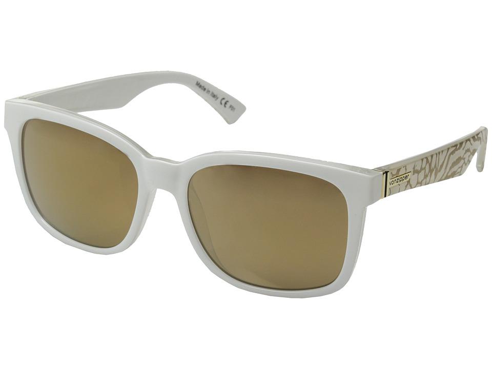 VonZipper - Howl (Party Animals White/Gold Glo) Fashion Sunglasses