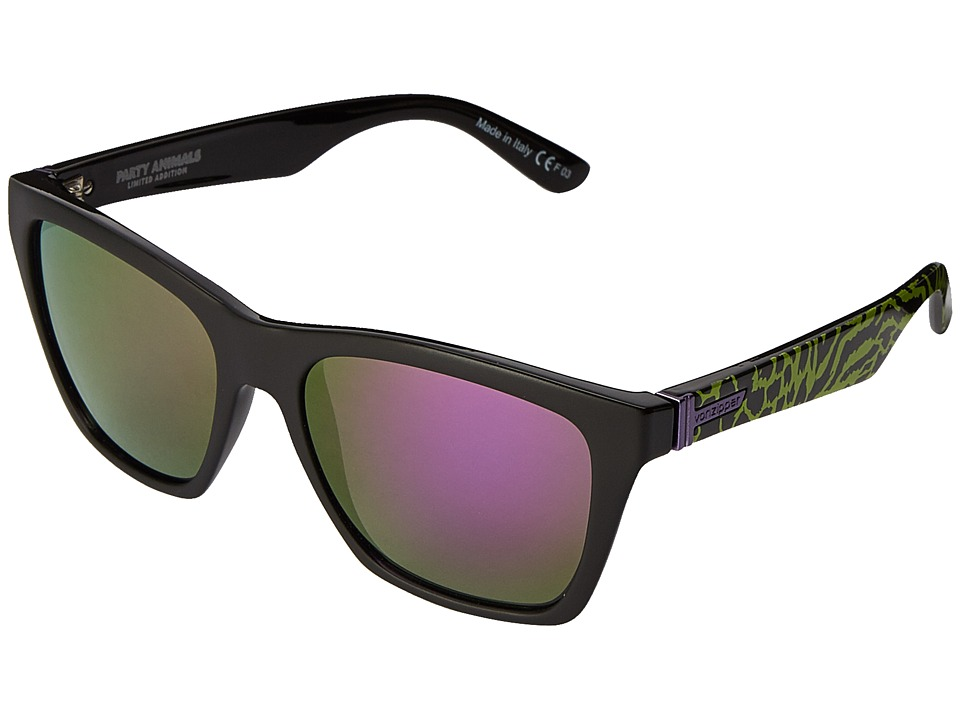 VonZipper - Booker (Party Animals Lime/Meteor Glo) Sport Sunglasses