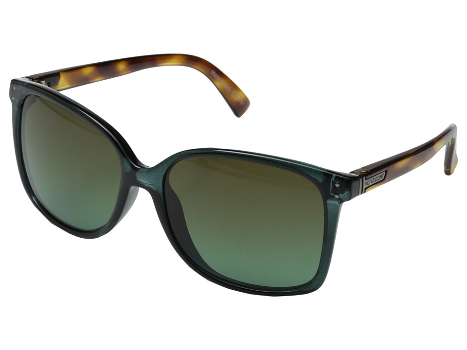 VonZipper - Castaway (Hunter Crystal Tortoise/Green-Brown Gradient) Sport Sunglasses