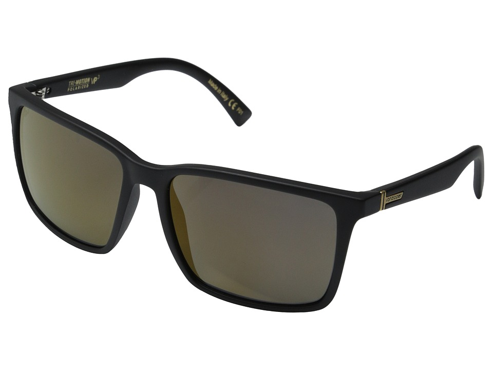 VonZipper - Lesmore Polar (Black Satin/Gold Glo Polar) Sport Sunglasses