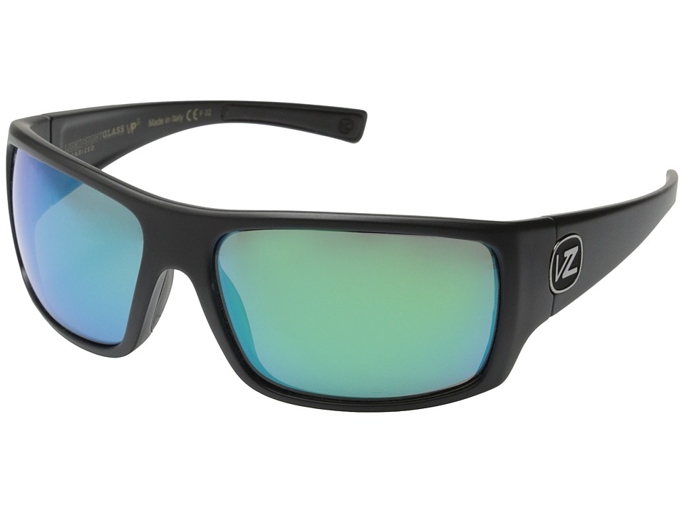 VonZipper - Suplex Polarized (Black Satin/Quasar Glo Wildlife Glass Polar) Fashion Sunglasses