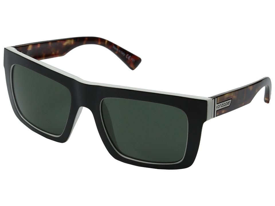 VonZipper - Donmega (Black-White Tortoise/Vintage Grey) Sport Sunglasses