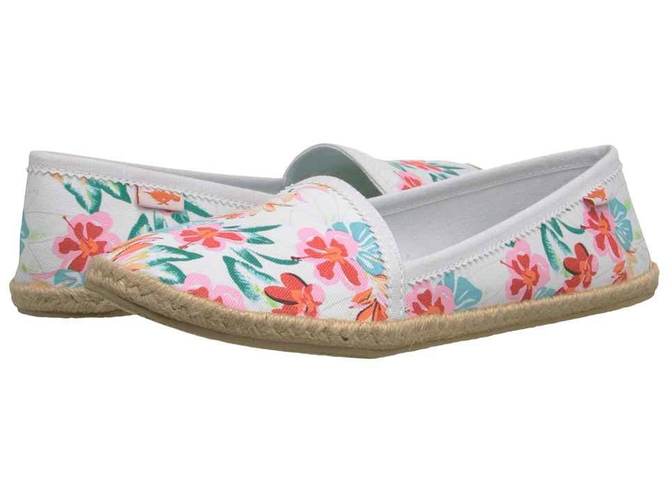 Rocket Dog - Wavey (White Hawaii Dream) Women's Slip on Shoes