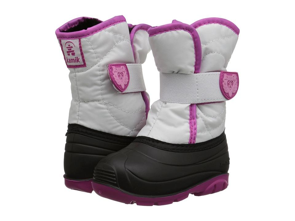 Kamik Kids - Snowbug 3 (Toddler) (White) Girls Shoes