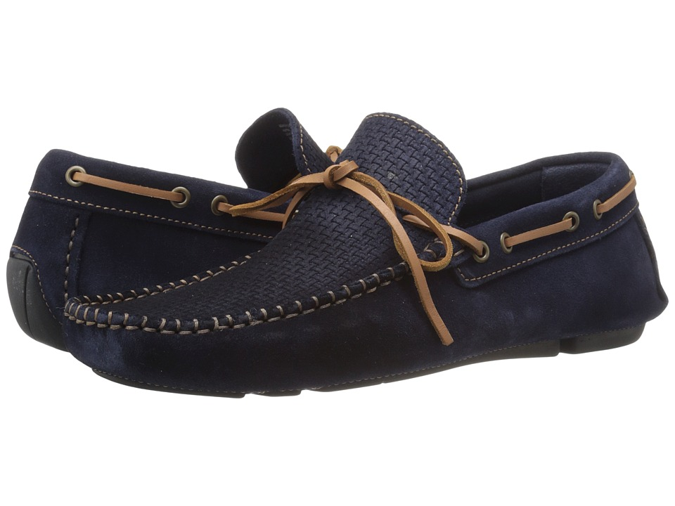 Dune London - Beach Comber (Navy Suede) Men's Shoes