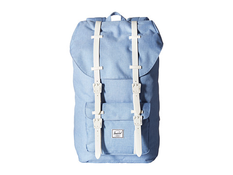 Herschel Supply Co. - Little America (Chambray Crosshatch/White Rubber) Backpack Bags