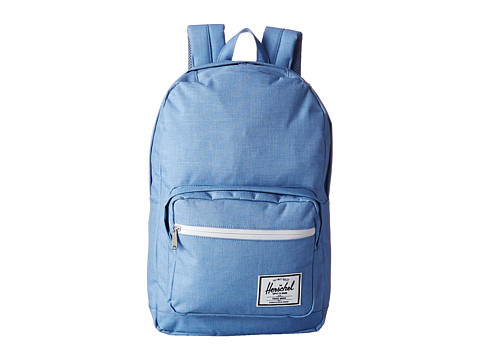Herschel Supply Co. - Pop Quiz (Chambray Crosshatch/White Rubber) Backpack Bags