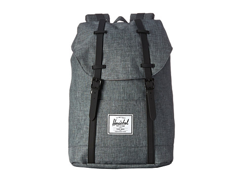 Herschel Supply Co. - Retreat (Charcoal Crosshatch/Black Rubber) Backpack Bags