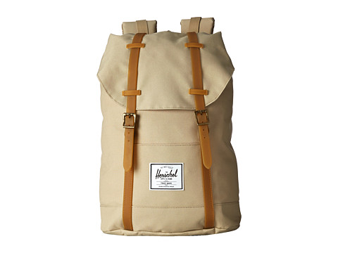 Herschel Supply Co. - Retreat (Khaki/Gum Rubber) Backpack Bags