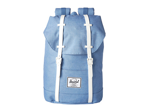 Herschel Supply Co. - Retreat (Chambray Crosshatch/White Rubber) Backpack Bags
