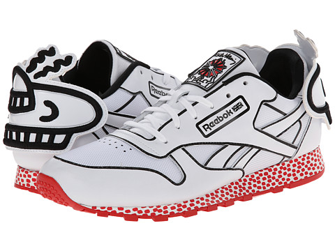 Reebok - Classic Leather Lux (Khaki/White/Black/Techy Red) Men's Shoes