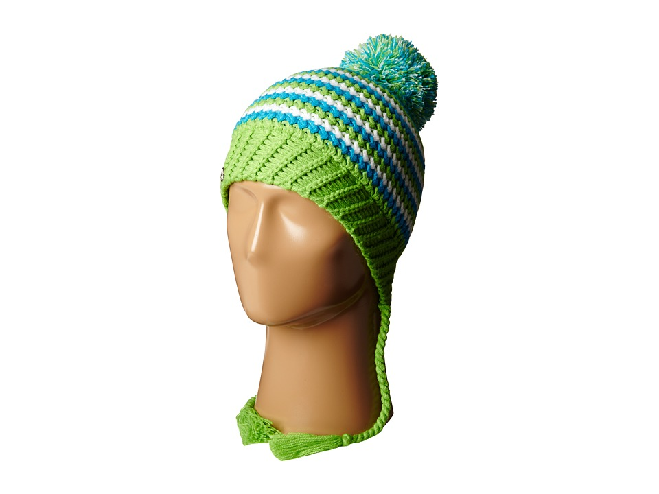 Spyder Kids - Bittersweet Hat (Big Kids) (Green Flash/Riviera/White) Cold Weather Hats