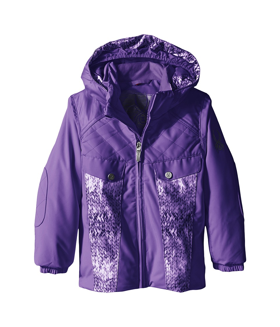 Spyder Kids - Bitsy Mynx Jacket (Toddler/Little Kids/Big Kids) (Iris/Iris Multi-Loop) Girl's Coat
