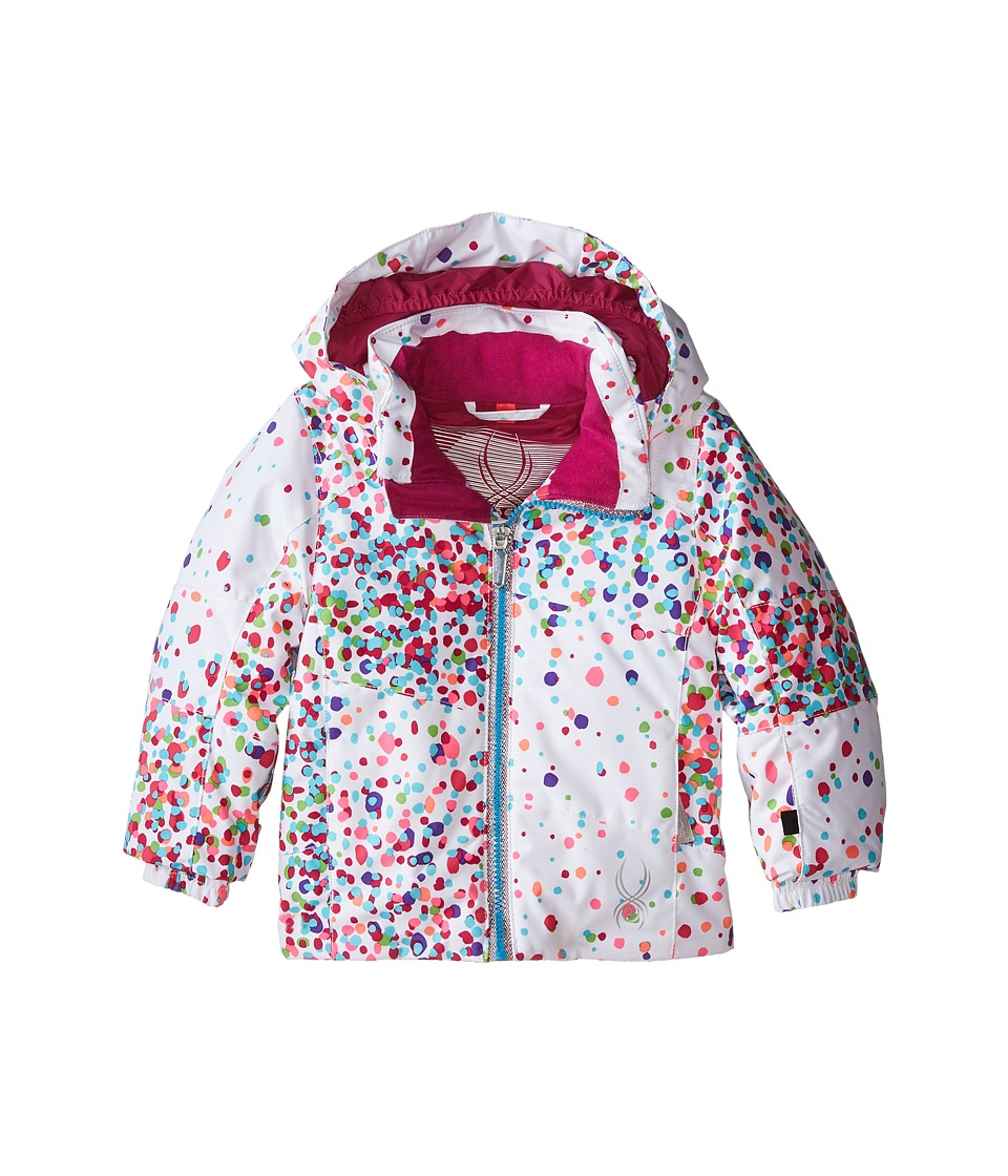 Spyder Kids - Bitsy Glam Jacket (Toddler/Little Kids/Big Kids) (White Confetti/Wild) Girl's Coat
