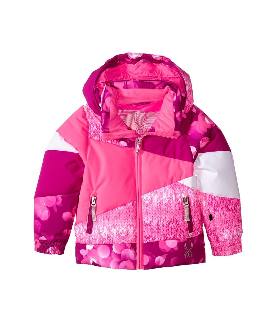 Spyder Kids - Bitsy Duffy Puff Jacket (Toddler/Little Kids/Big Kids) (Wild Focus/Bryte Bubblegum Multi-Loop/Bryte Bubblegum) Girl's Coat