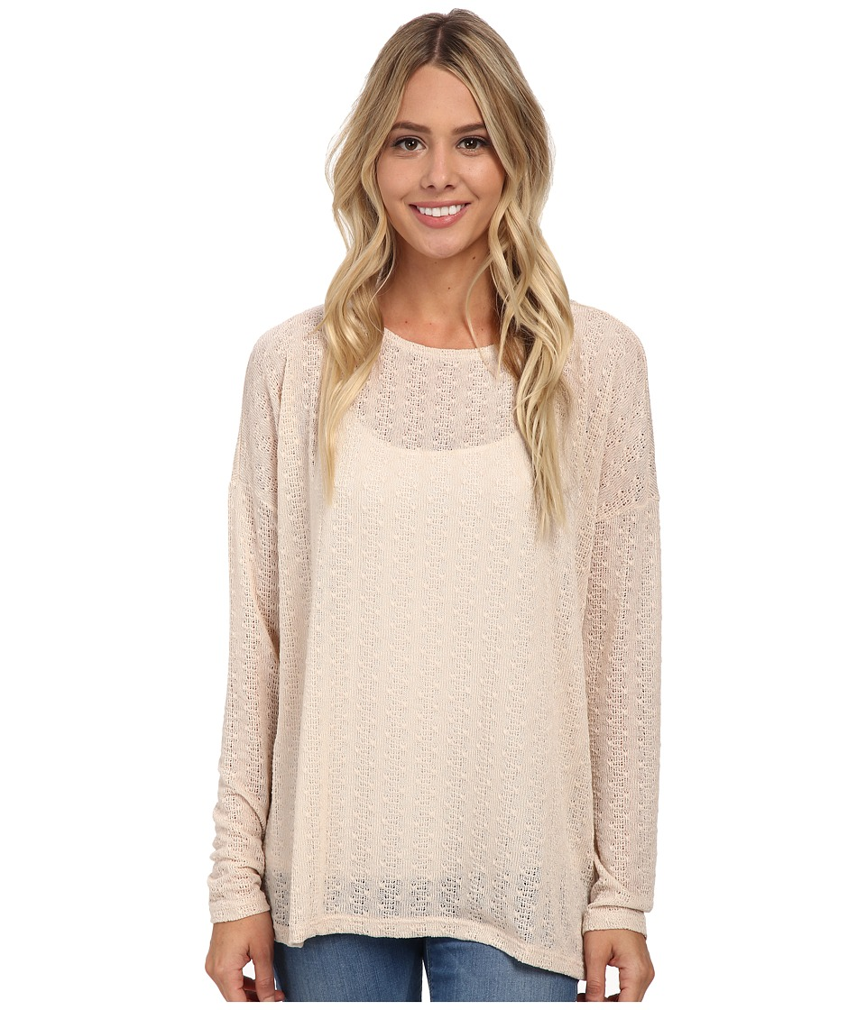 Volcom - Free To Go Crew (Almond) Women's Long Sleeve Pullover