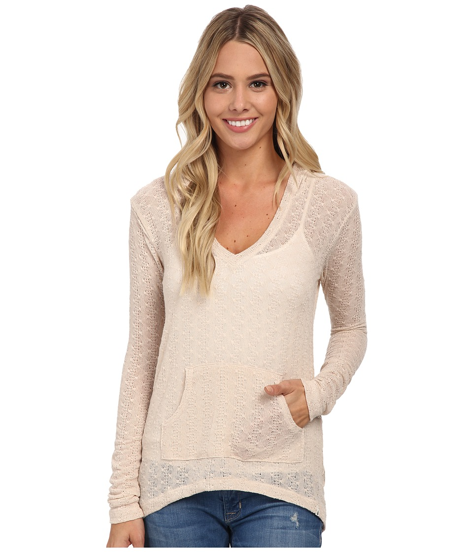 Volcom - Free To Go V-Neck Top (Almond) Women's Long Sleeve Pullover