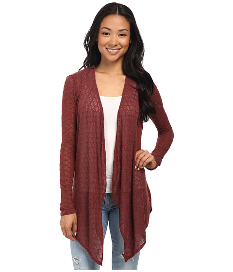 Volcom - Free To Go Wrap (Cognac) Women's Long Sleeve Pullover