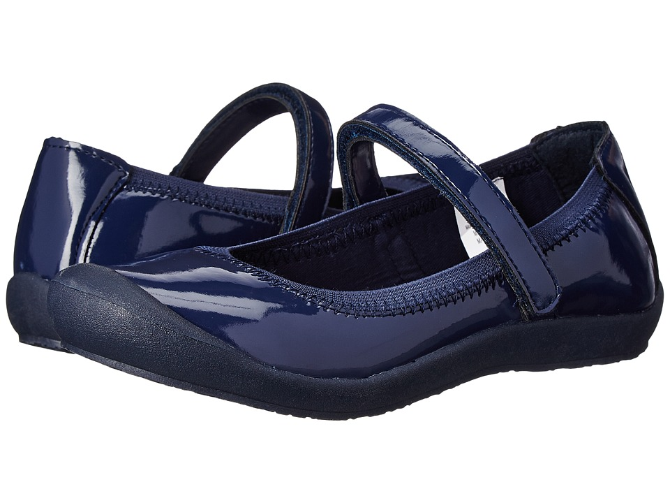 Hanna Andersson - Maya 3 (Toddler/Little Kid/Big Kid) (Navy Patent) Girls Shoes
