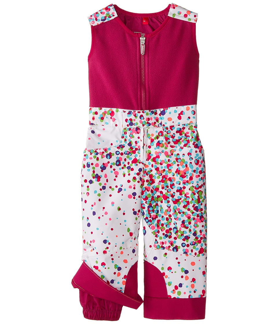 Spyder Kids - Bitsy Tart Pants (Toddler/Little Kids/Big Kids) (White Confetti/Wild) Girl's Snow Bibs One Piece