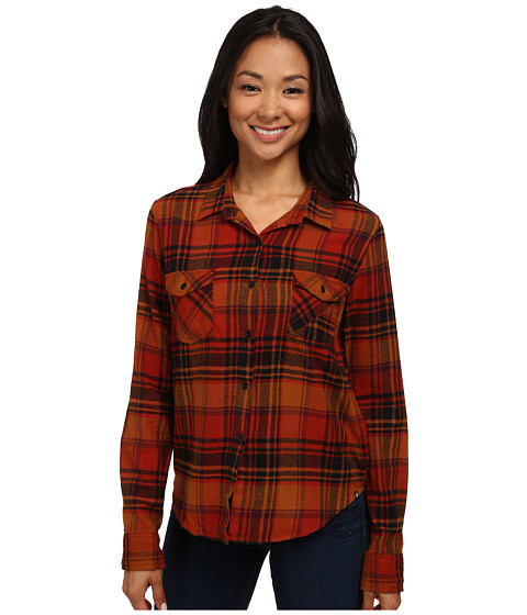 Volcom - Desert Coast Shirt (Rust) Women's Long Sleeve Button Up