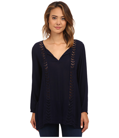 Volcom - Highway Child Tunic (Midnight Blue) Women's Long Sleeve Pullover
