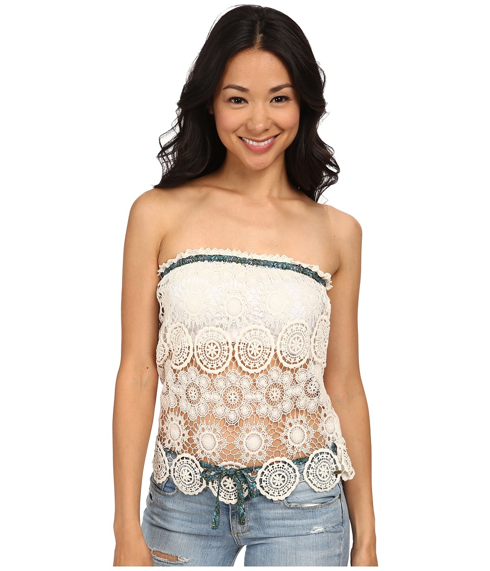 O'Neill - Anna Sui for O'Neill - Drifter Crochet Tube Top (Naked) Women's Blouse