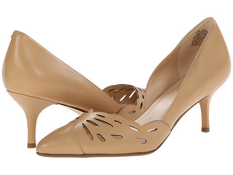Nine West - Megara (Natural Leather) Women's 1-2 inch heel Shoes