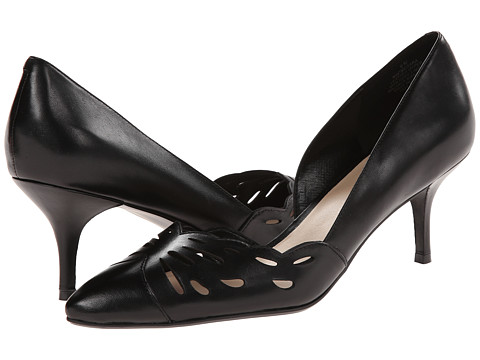 Nine West - Megara (Black Leather) Women's 1-2 inch heel Shoes