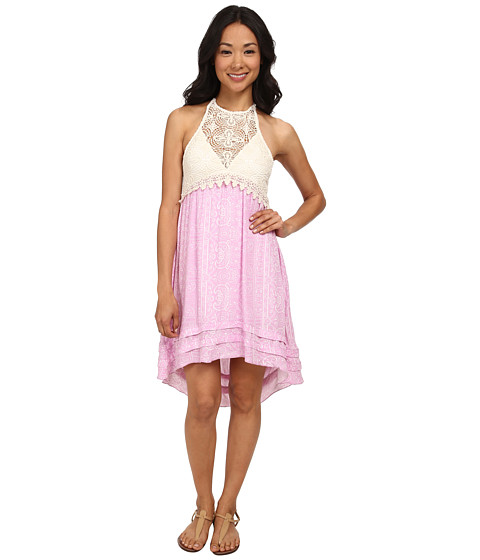 O'Neill - Anna Sui for O'Neill - Ella Printed Woven Dress (Pale Orchid) Women's Dress