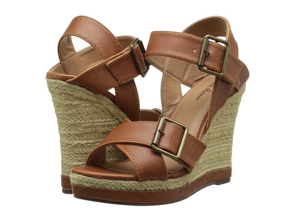 Michael Antonio - Gladwinn (Cognac) Women's Wedge Shoes