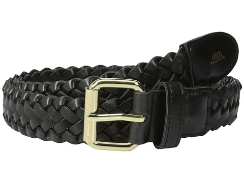 Obey - Gentry Braided Leather Belt (Black) Men