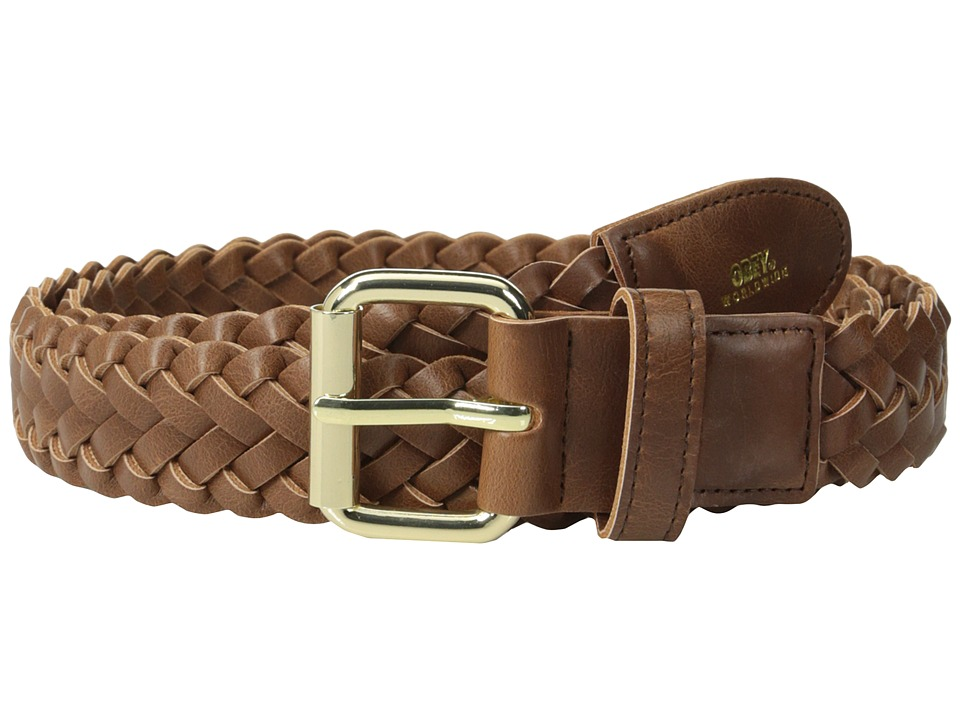 Obey - Gentry Braided Leather Belt (Caramel) Men