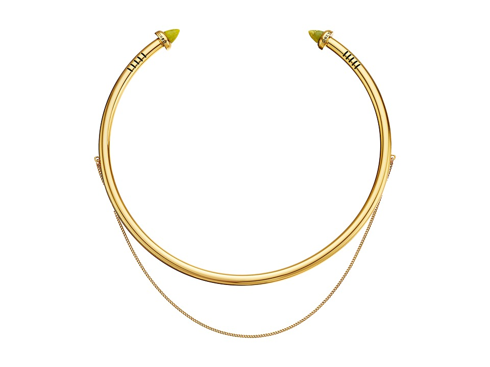 Obey - Casper Choker Necklace (Gold) Necklace