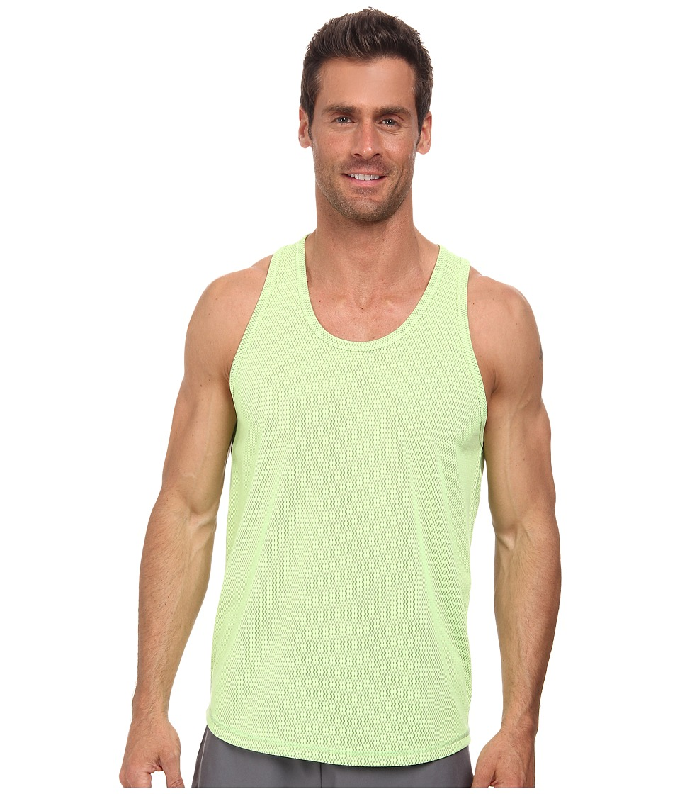 2(X)IST - Trainer Tech Racer Mesh Tank Top (Neon Yellow/Black) Men's Sleeveless