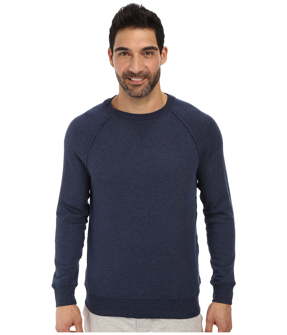 2(X)IST - Terry Crew Neck Sweatshirt (Denim Heather) Men