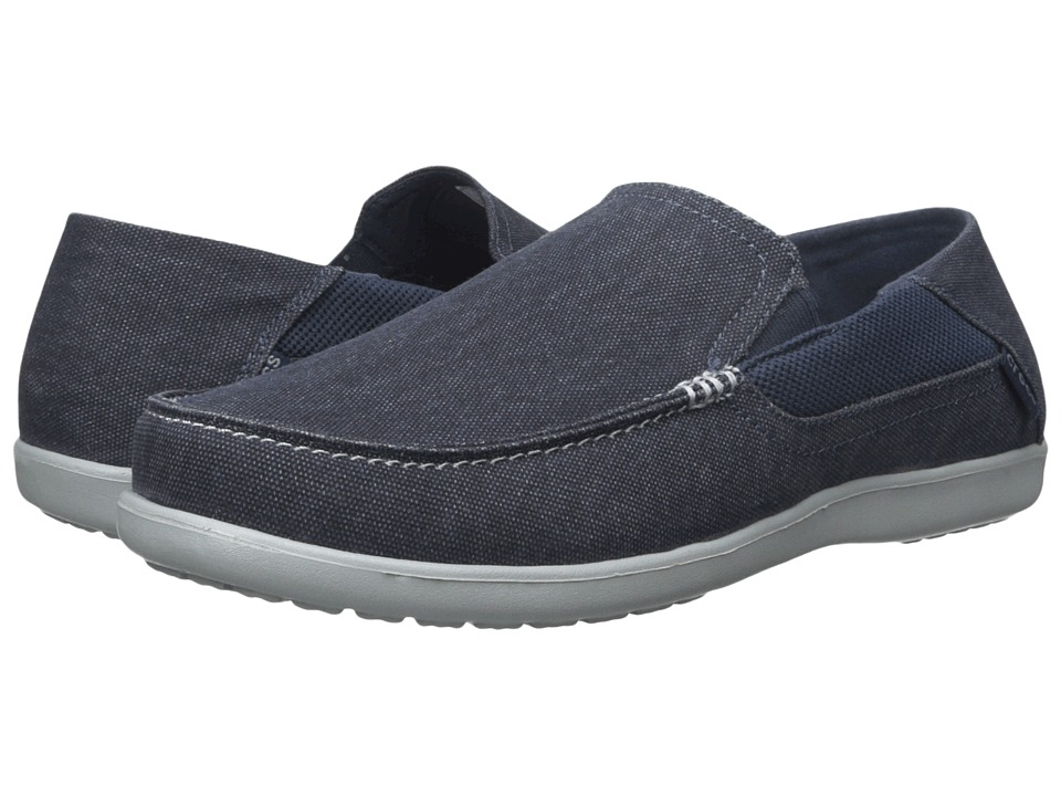 Crocs - Santa Cruz 2 Luxe (Navy/Light Grey) Men's Shoes