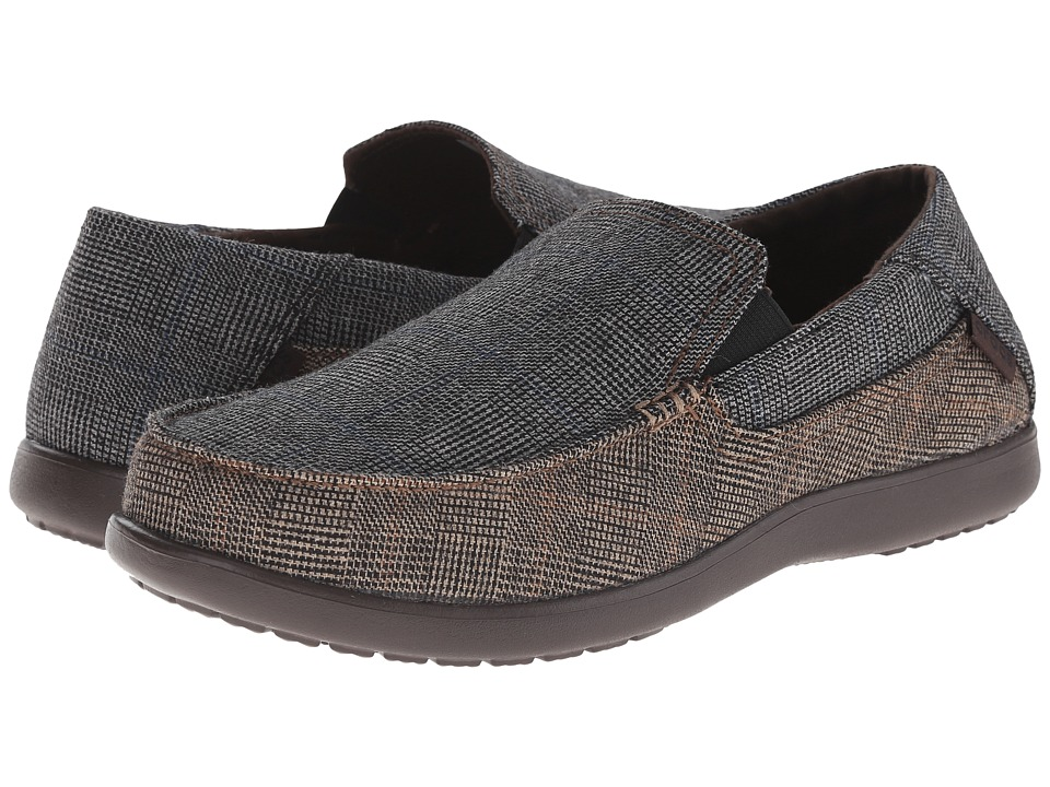 Crocs - Santa Cruz 2 Luxe Tweed (Light Grey/Espresso) Men's Shoes