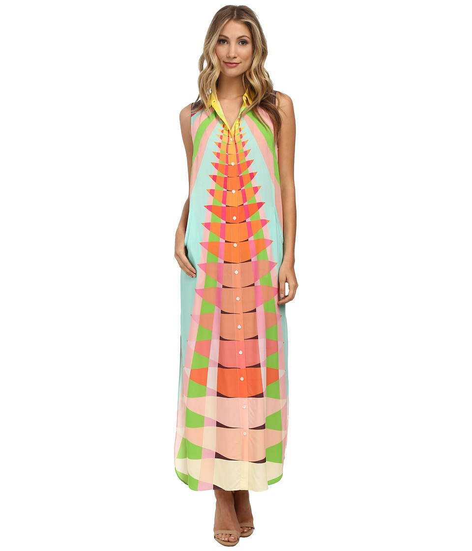 Mara Hoffman - Long Shirt Dress (Beams Yellow) Women's Dress