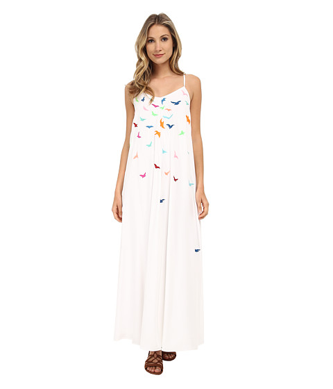 Mara Hoffman - Embroidered Tank Maxi Dress (White) Women's Dress