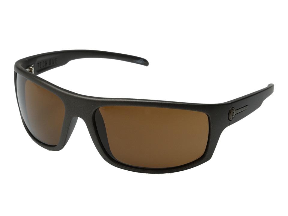 Electric Eyewear - Tech One (Casing Grey/M Bronze) Plastic Frame Sport Sunglasses